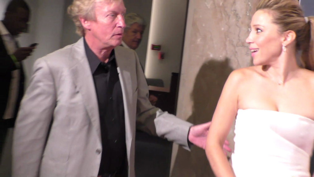 Nigel Lythgoe and Becky Baeling Lythgoe at the BritWeek's 10th Anniversary - Performance Of Murder, Lust And Madness at Wallis Annenberg Center for the Performing Arts in Beverly Hills.mp4