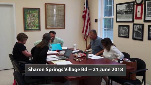 Sharon Springs Village Bd -- 21 June 2018