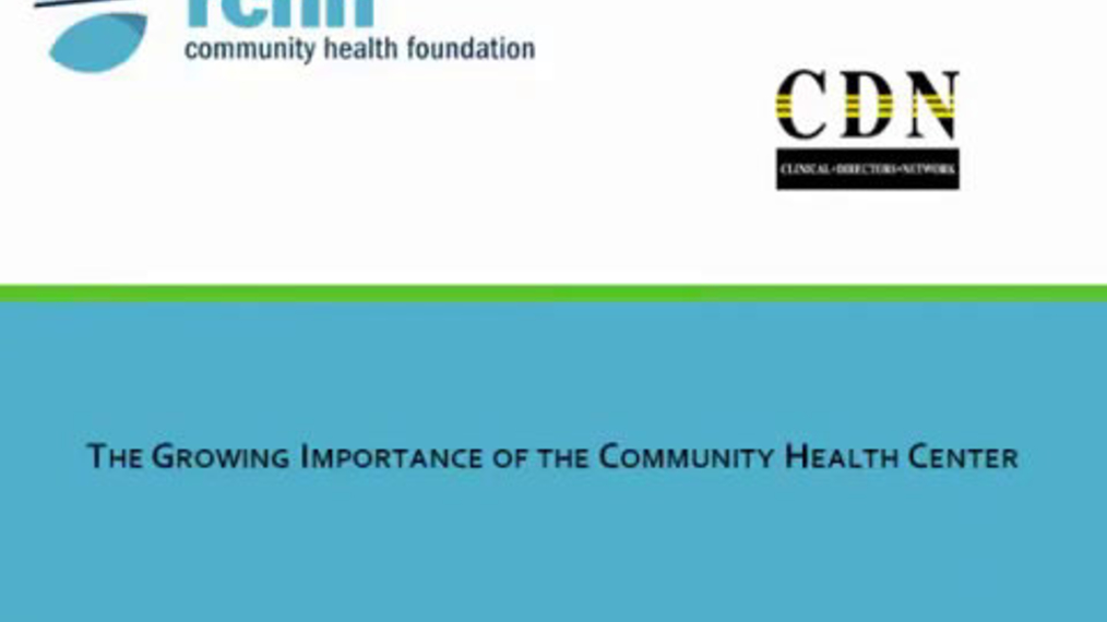 Health Care Reform and Primary Care - The Growing Importance of the Community Health Center