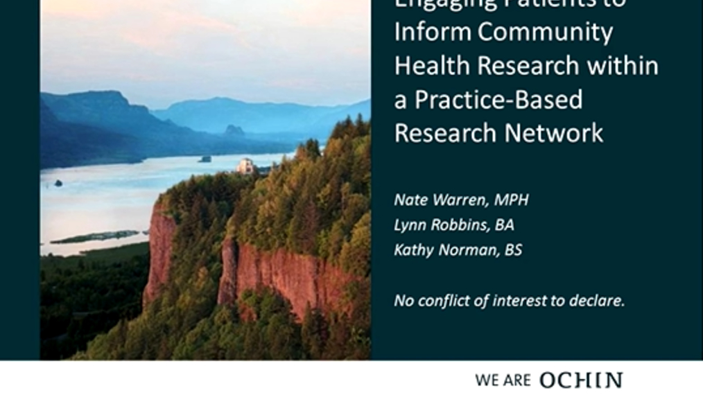 Engaging Patients to Inform Community Health Research within a Practice-Based Research Network