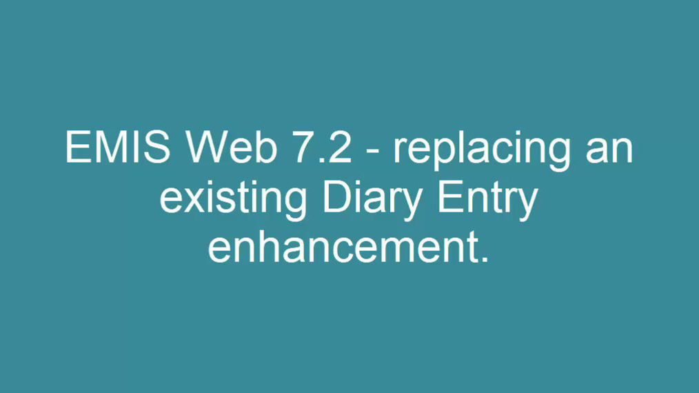 Replace an exisitng Diary Entry
