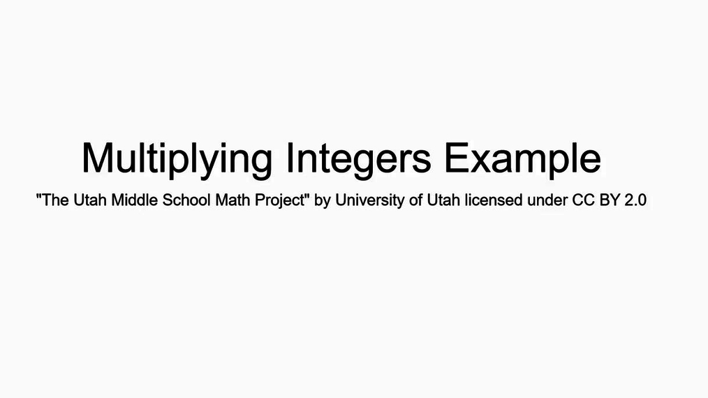 Math 7 Mulltiplying Integers Real World Example