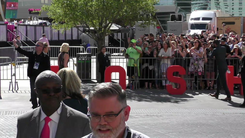 RaeLynn arriving to the 52nd Academy Of Country Music Awards at T-Mobile Arena in Las Vegas.mp4