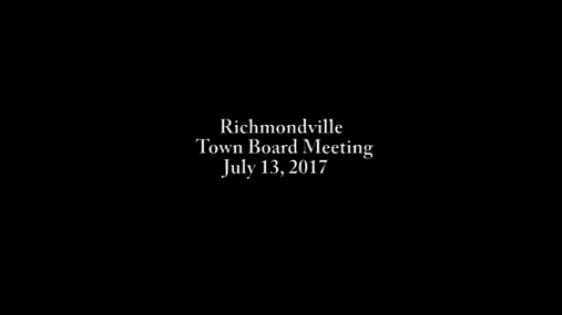 Richmondville Town Bd. -- 7-13-2017