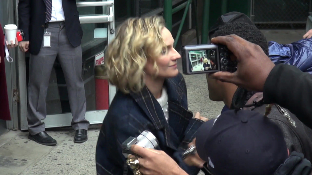 Diane Kruger and Faith Akin at BUILD Series in New York City.mp4