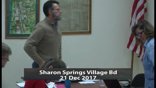Sharon Springs Village Bd -- 21 Dec 2017