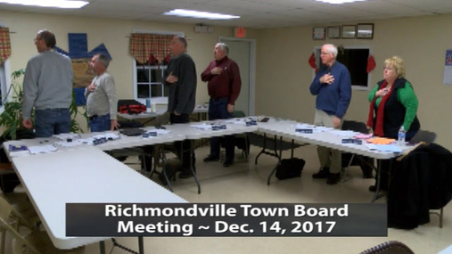 Richmondville Town Brd. -- Dec.14, 2017