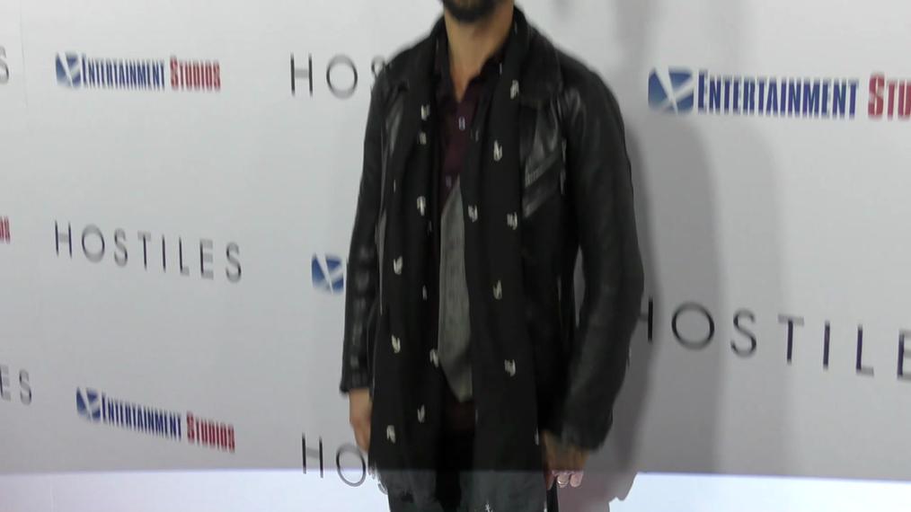 Ryan Bingham at the Hostiles Premiere at Samuel Goldwyn Theater in Beverly Hills.mp4