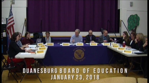 Duanesburg Bd of Ed -- 23 Jan 2018