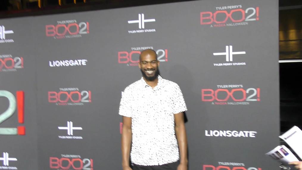 Corey Brewer at the Tyler Perry's Boo 2! A Madea Halloween Premiere at Regal LA Live Theatre in Los Angeles.mp4