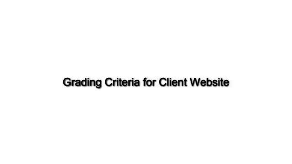 Client Project- Grading Criteria.mp4