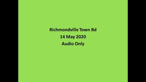 Richmondville Town Bd == 14 May 2020