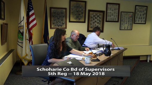 Schoharie Co Bd of Supervisors 5th Reg -- 18 May 2018