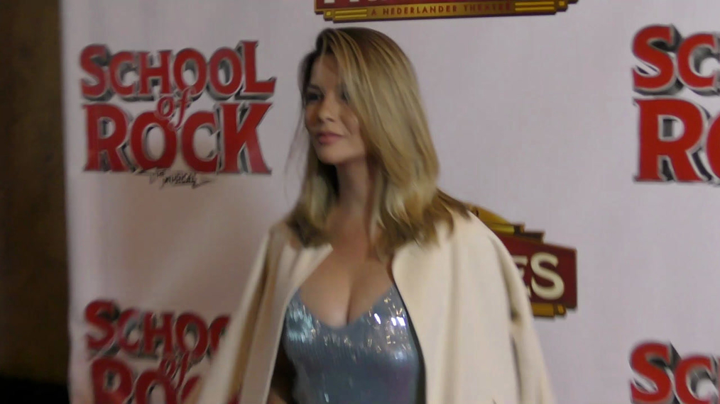 Masiela Lusha attends the Los Angeles Premiere Of School Of Rock The Musical at Pantages Theatre in Hollywood.mp4