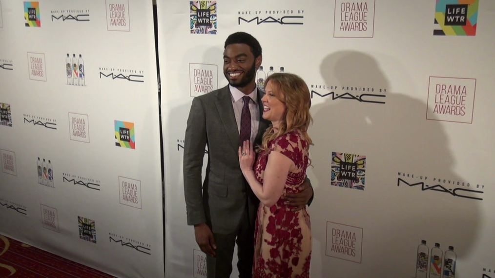 Jelani Alladin and Patti Murin attend the 2018 Drama League Awards at Marriott Marquis Times Square in New York City.mp4