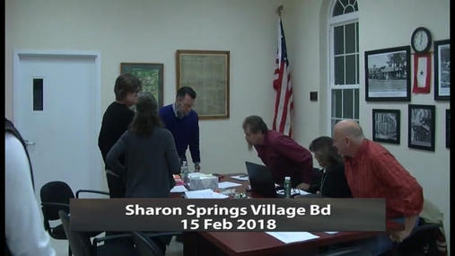 Sharon Springs Village Bd -- 15 Feb 2018