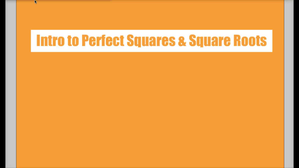 Math 8 Q3 Unit 6 Intro to Perfect Squares & Square Roots.mp4