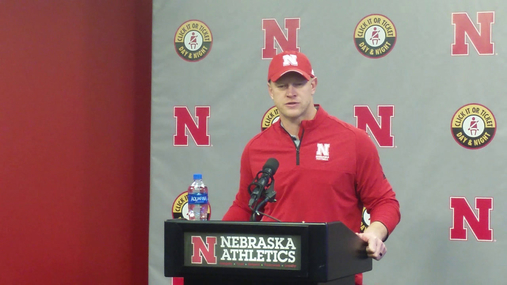 Head Coach Scott Frost Discusses Nebraska's Offensive Line