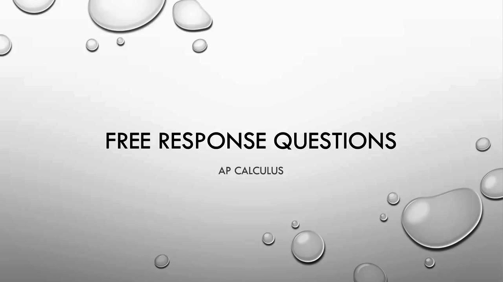 AP Calculus Free Response Tips.mp4