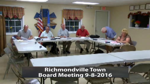 Richmondville Town. Board -- 9-8-2016