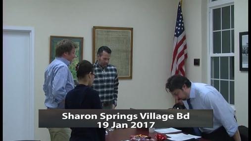 Sharon Springs Village Bd -- 19 Jan 2017