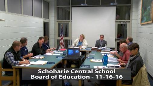 Schoharie School BOE -- 11-16-16