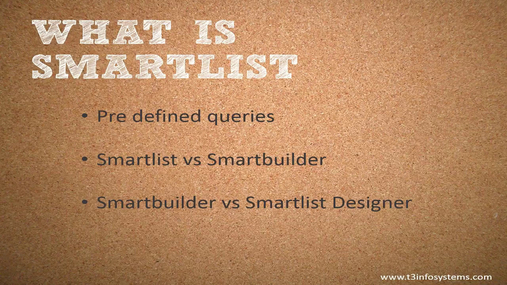 SmartList Tips and Tricks Webinar