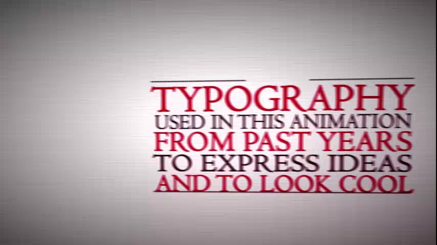 Make a cool retro-typo video advertising to present your company/website/product
