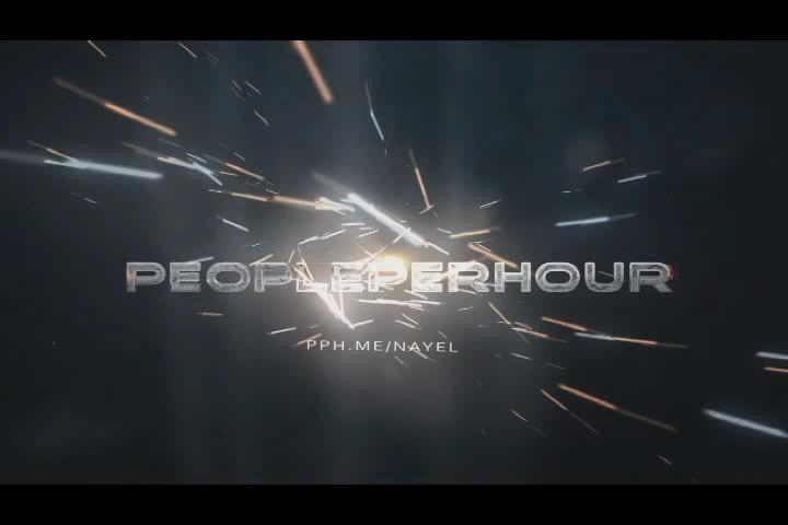 Create this professional sparks logo reveal intro video with sound effect