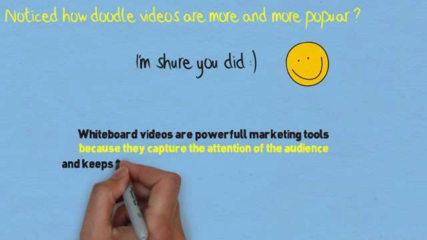 Create a killer whiteboard doodle video
