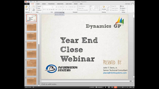 Year End Close Best Practices  Dynamics GP 2014