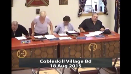 Cobleskill Village Board 18 Aug 2015
