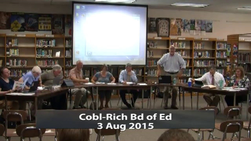 CRCS Board of Ed 3 Aug 2015
