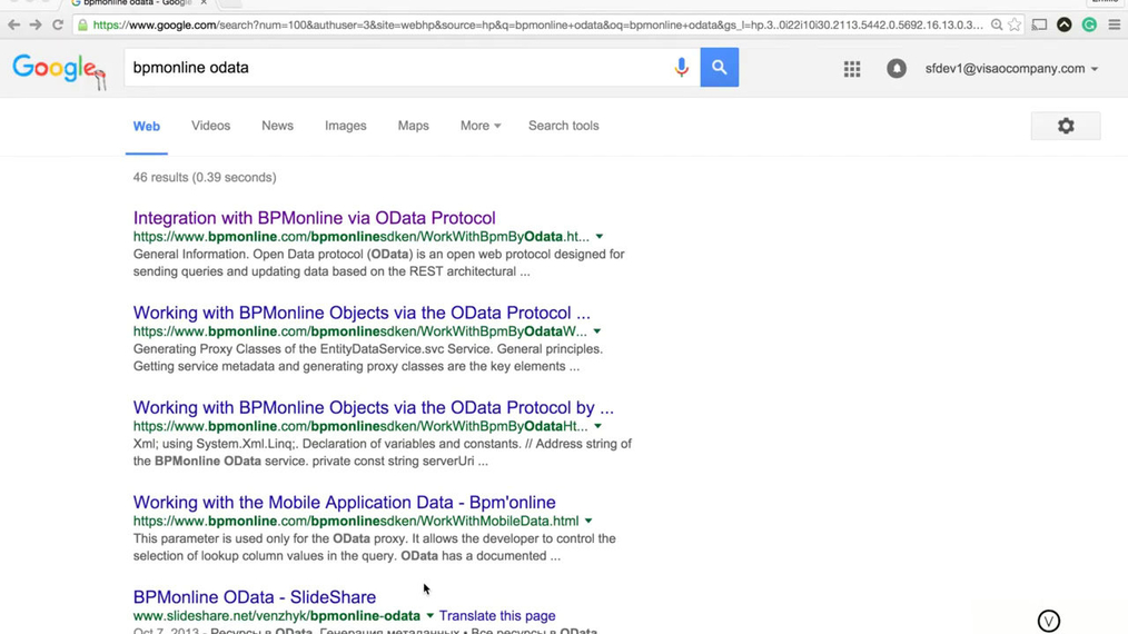 bpm'online - Accessing Odata Protocol for API