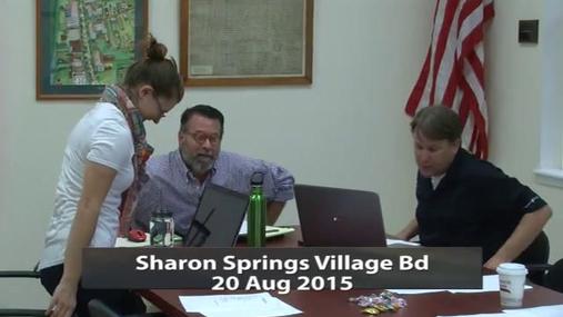 Sharon Springs Village Bd 20 Aug 2015