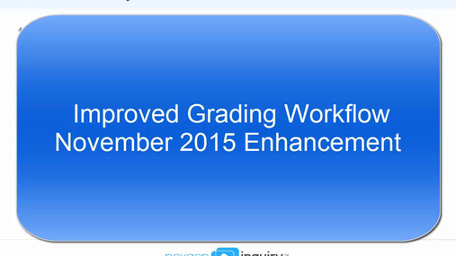 Improved Grading Workflow - November 2015 Update