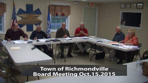 Richmondville Town BD 15 Oct 2015