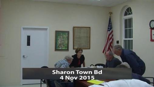 Sharon Town Bd 4 Nov 2015 Pt.1.MPG