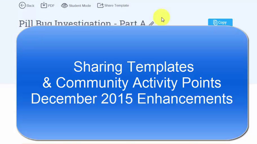 Sharing Templates & Community Points - December 2015 Update