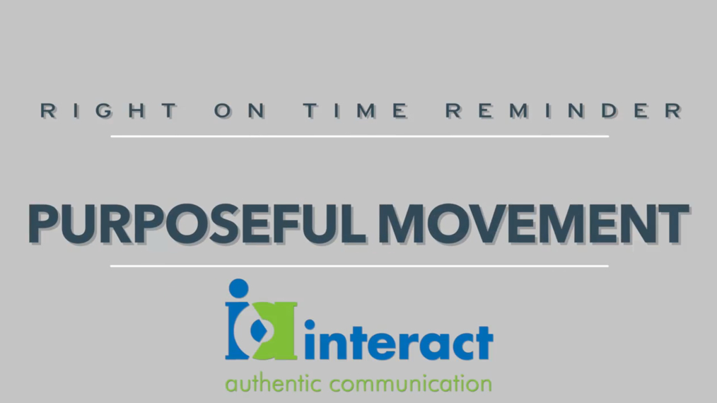Right on time Reminders - Purposeful Movement
