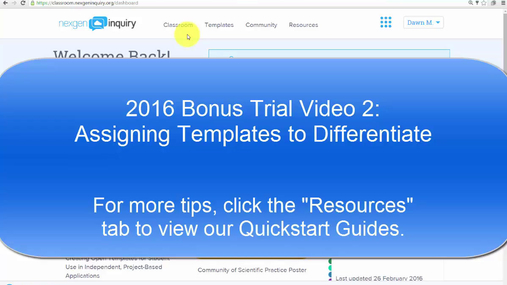 NexGen Inquiry Tips & Tricks - Assigning Templates to Differentiate