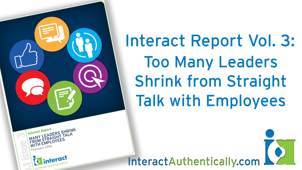 Too Many Leaders Shrink from Straight Talk with Employees
