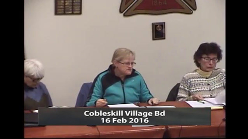 Cobleskill Village Bd -- 16 Feb 2016