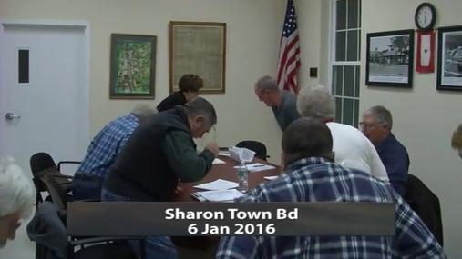 Sharon Town Bd -- Jan 6 2016