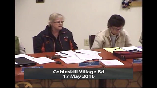 Cobleskill Village Bd -- May 17 2016
