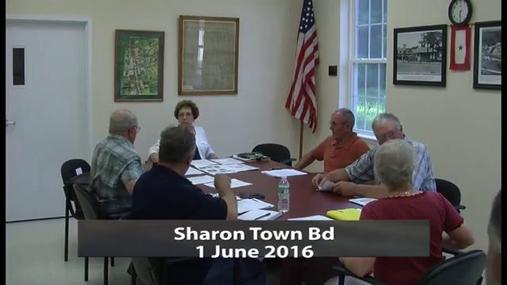 Sharon Town Bd -- June 1 2016