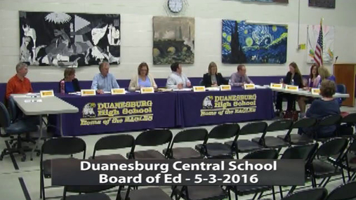 Duanesburg BOE --May 3 2016