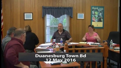 Duanesburg Town Bd -- May 12 2016