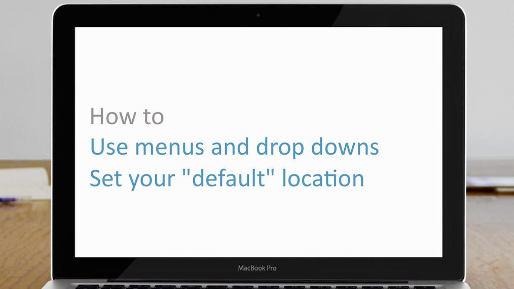Navigate menus & drop downs | how to