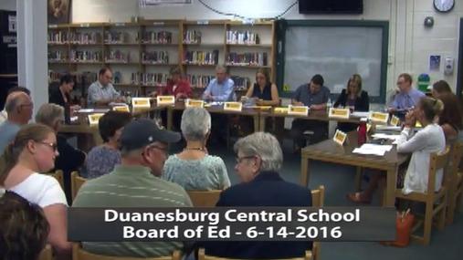Duanesburg BOE --June-14-2016